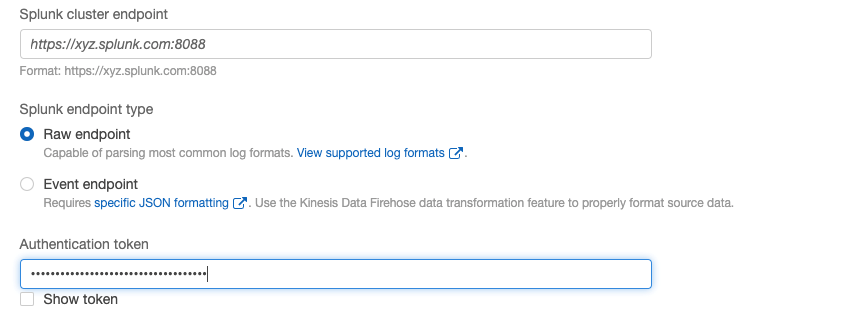Configuring Kinesis Data Firehose delivery stream with Splunk (2)